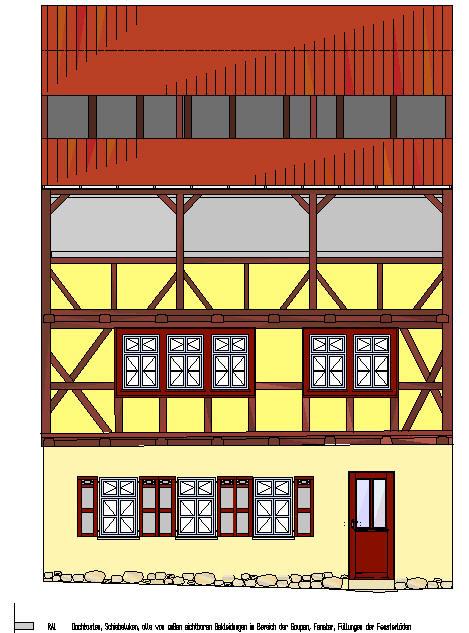 Farbentwurf Fassade Kuttelgasse